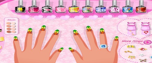 Jeu-de-decoration-d-ongles