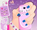 Manicura-con-hello-kitty